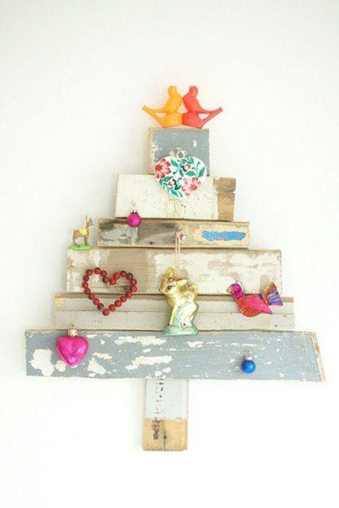 arboles de navidad rusticos reciclando restos 3