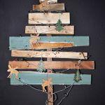 arboles de navidad rusticos reciclando restos 0