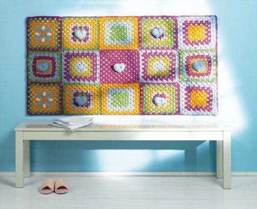 idea para decorar la casa con una colcha de cuna de crochet