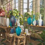 decorar con flores y vidrio reciclado 2