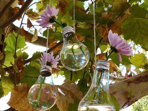 cómo decorar con bombillas recicladas 1