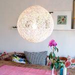 como hacer una lampara con cuerda para decorar la casa