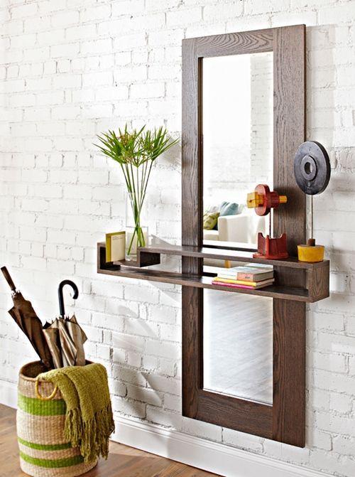 DIY mueble funcional para decorar la entrada de casa
