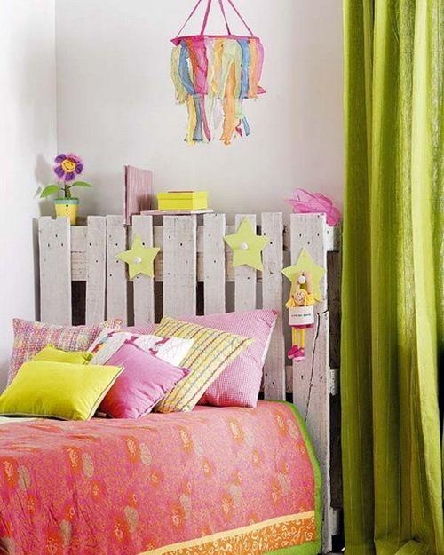 Palets para decorar dormitorios como cabeceros de cama - Decorar cabecero cama ...