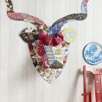 Ciervo de cartón kitsch para decorar paredes