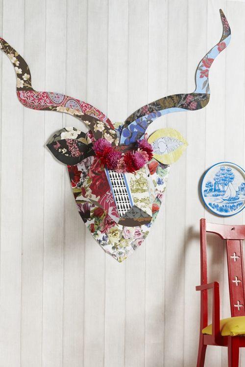 ciervo de carton kitsch para decorar paredes 1