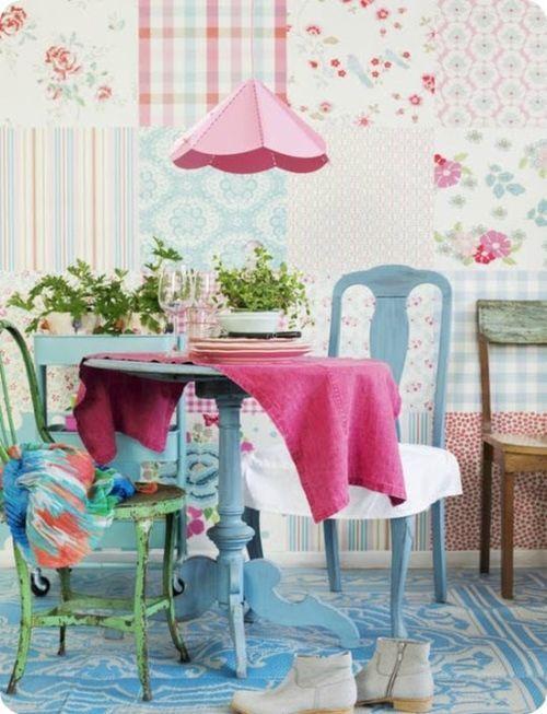 ideas patchwork para paredes vintage 2