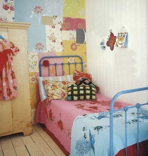ideas patchwork para paredes vintage 3