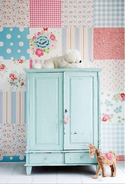 ideas patchwork para paredes vintage 7