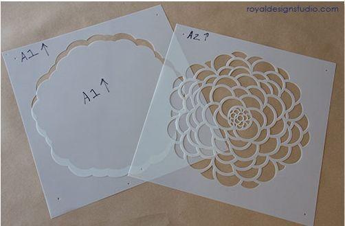 Plantillas para pintar paredes con flores decomanitas - Pintar facil paredes ...
