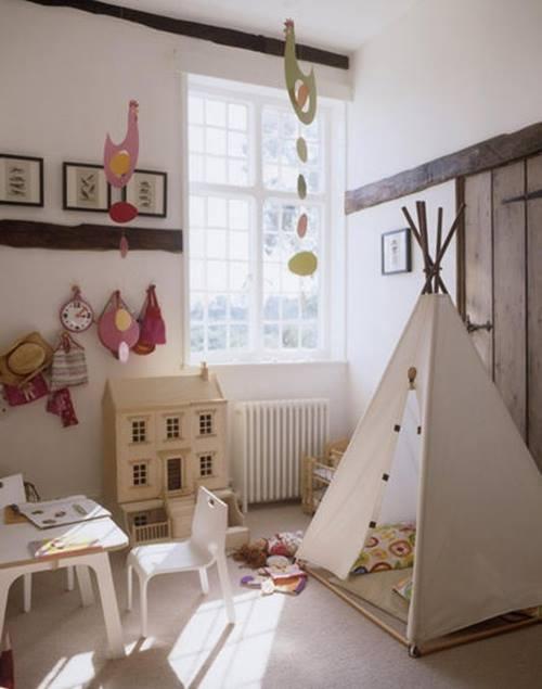 Decorar habitaciones de niños con tipis 10