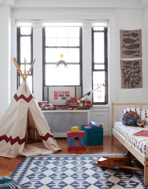 Decorar habitaciones de niños con tipis 9