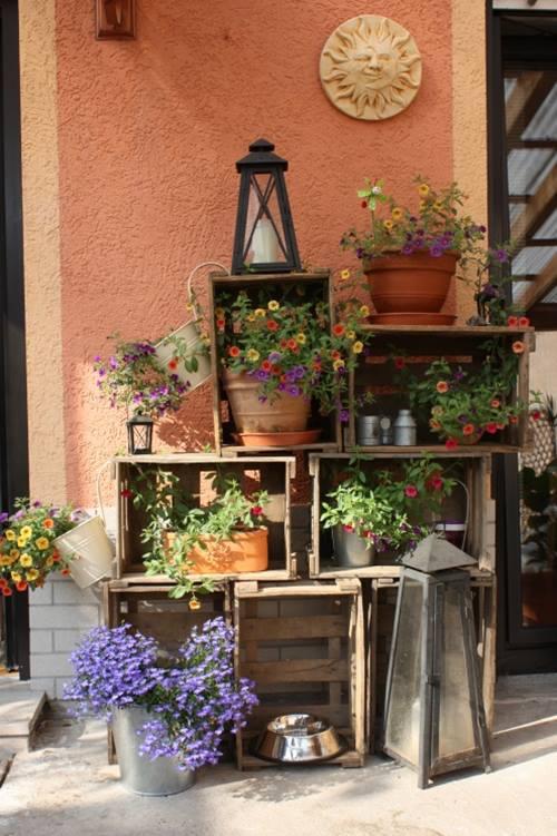 Ideas de decoracion con cajas de madera para fruta - Decoracion de cajas ...
