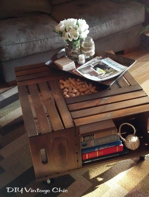 Ideas de decoracion con cajas de madera para fruta 12