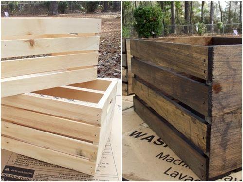 Ideas de decoracion con cajas de madera para fruta 16