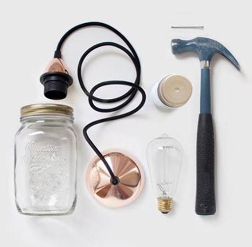 Ideas para decorar con tarros de vidrio lámparas DIY 2