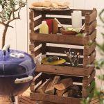 Mueble para barbacoas DIY hecho con cajas de madera 1