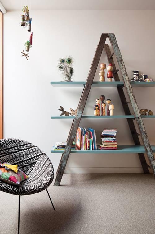 Reciclar para decorar viejas escaleras de madera recuperadas 3