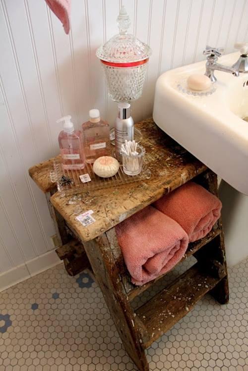 Reciclar para decorar viejas escaleras de madera recuperadas 9