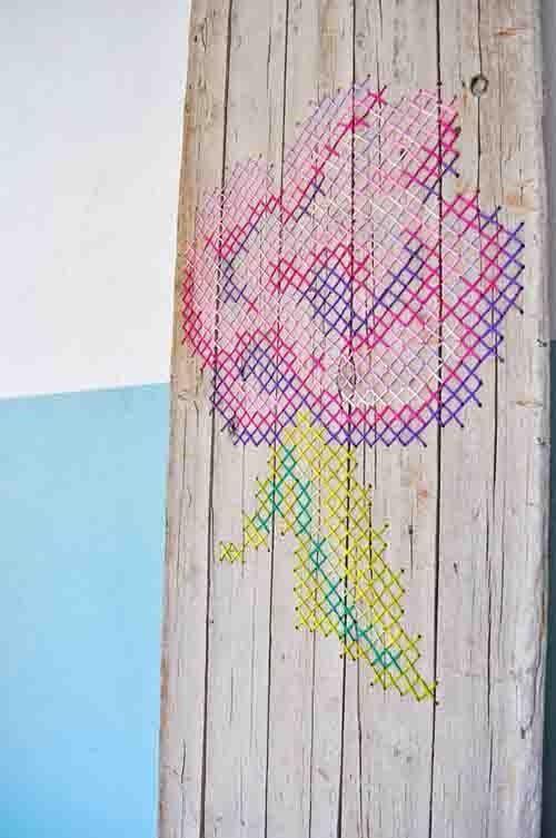 pintar paredes con esquemas de punto de cruz 4