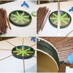 Manualidades para decorar cómo hacer un espejo de sol vintage 2
