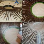 Manualidades para decorar cómo hacer un espejo de sol vintage 3