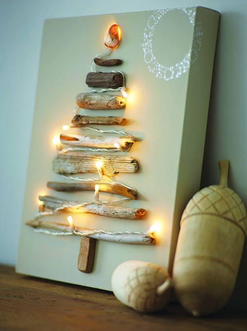 C mo hacer un rbol de navidad con ramas secas decomanitas for Como hacer un arbol de navidad original