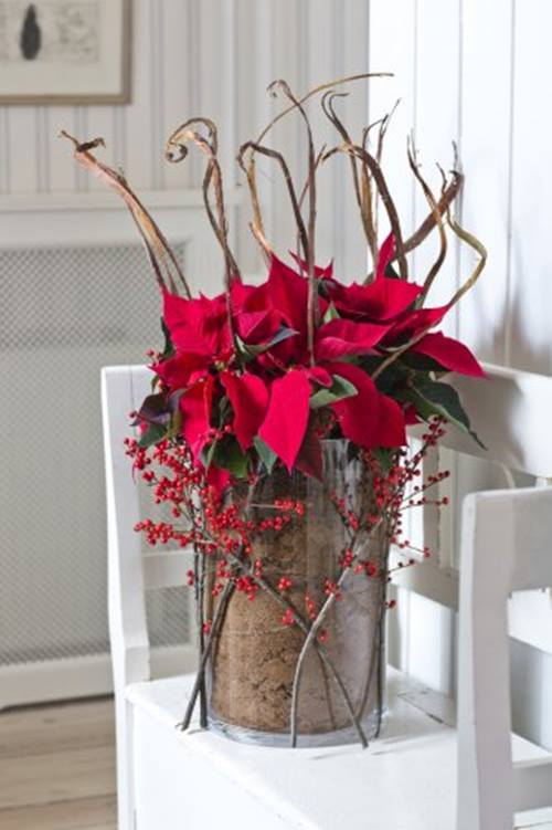 Arreglos de Navidad con flor de pascua 14