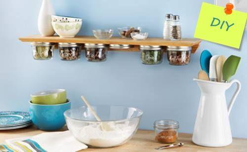 Especieros de cocina originales hecho a mano ideas para reciclar frascos 1