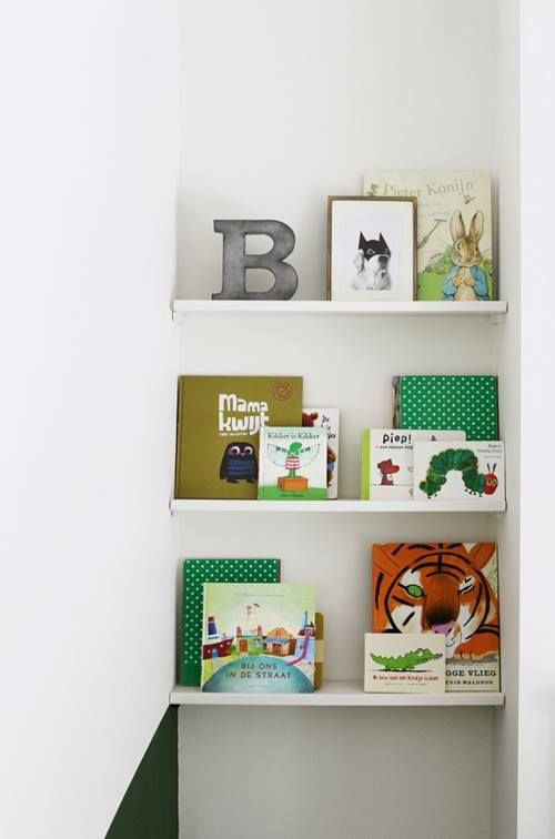 Repisas modernas para libros en habitaciones para niños 3