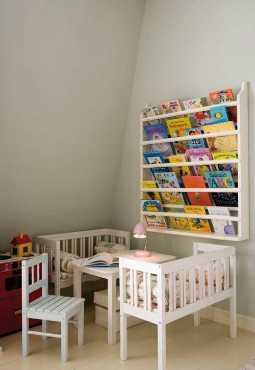 Repisas modernas para libros en habitaciones para ni os - Habitaciones infantiles pequenos espacios ...
