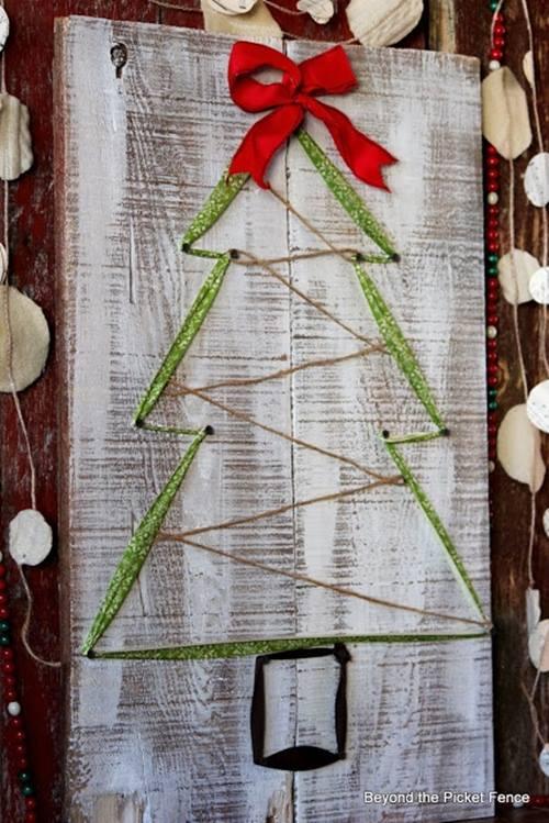como hacer un arbol de Navidad facil  5
