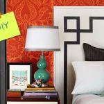 Cómo hacer un cabecero de cama original con pintura de pared 1
