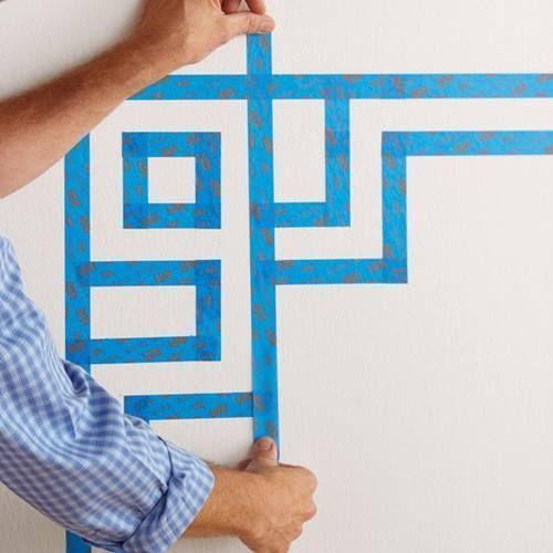 Cómo hacer un cabecero de cama original con pintura de pared 5