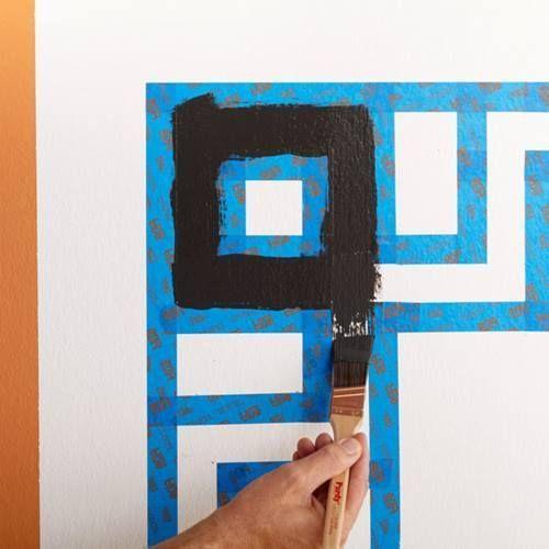 Cómo hacer un cabecero de cama original con pintura de pared 7