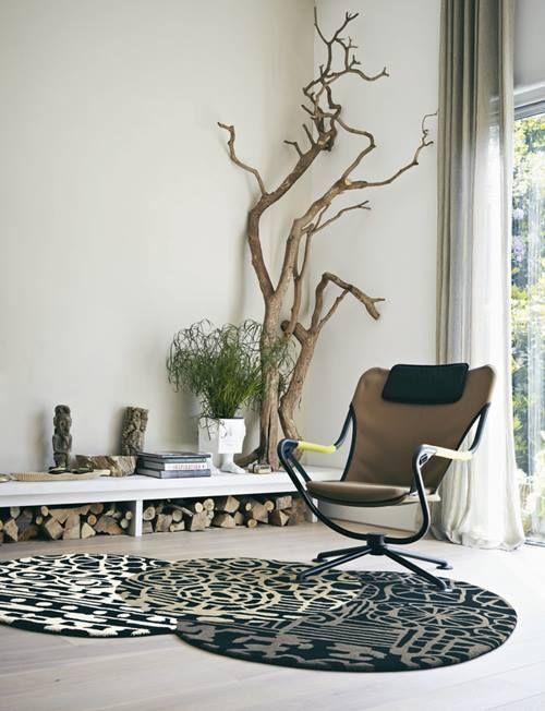 Rboles secos para decorar interiores de casas decomanitas - Como decorar un arbol seco ...