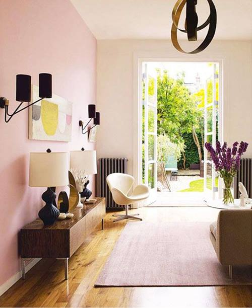 La decoración de interior en color rosa palo es ¡tendencia absoluta! 7