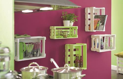 Nuevas ideas para pintar cajas de madera y reutilizarlas - Cabeceras pintadas en la pared ...