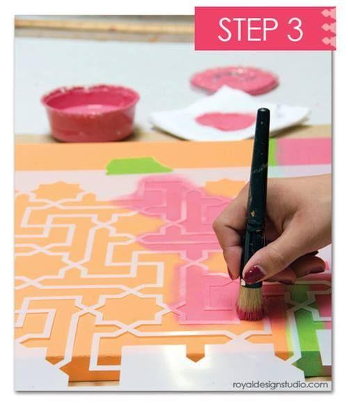 Cómo decorar mi casa con plantillas para pintar de estilo marroquí 8