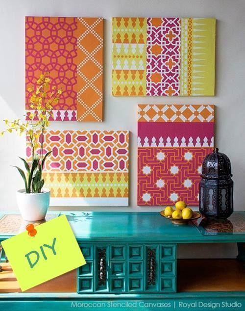 como decorar mi casa con stencil de motivos geometricos de estilo marroqui 3