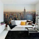 Cómo decorar paredes originales con fotomurales de ciudades 2