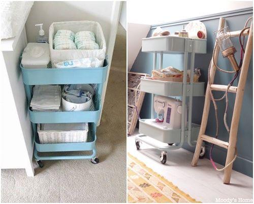 Cómo transformar camareras de cocina Ikea Rastog en muebles de almacenaje  5