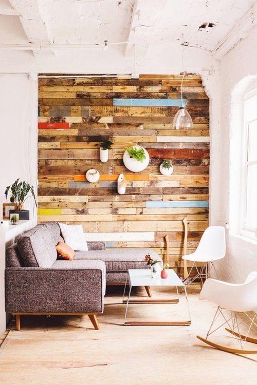 Cosas hechas con palets esta vez les toca a las paredes... 9