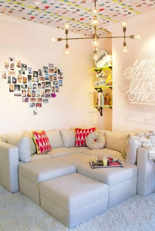 Decorar con fotos, ¡y dar vida a las paredes con un corazón! 2