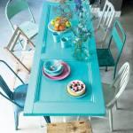 Ideas para reciclar muebles: mesas, espejos y cabeceros a partir de puertas viejas