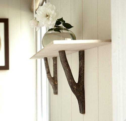 Más ideas para decorar con ramas secas repisas modernas con toque rústico 1