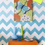 Nuevas ideas geométricas con plantillas para pintar paredes