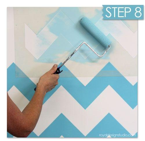 Nuevas ideas geométricas con plantillas para pintar paredes 10
