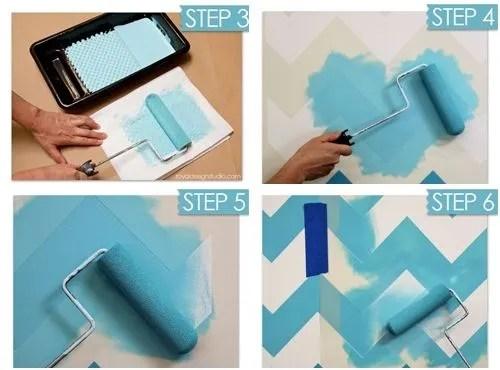 Nuevas ideas geométricas con plantillas para pintar paredes 5