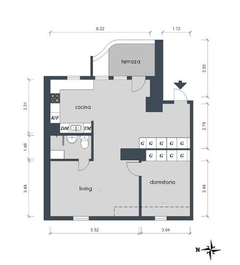 Decoración de interiores chic para ampliar una casa pequeña 10